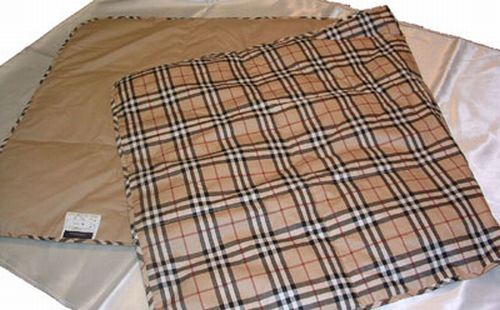 Burberry Down Feather Throw Lap Blanket In Gift Box
