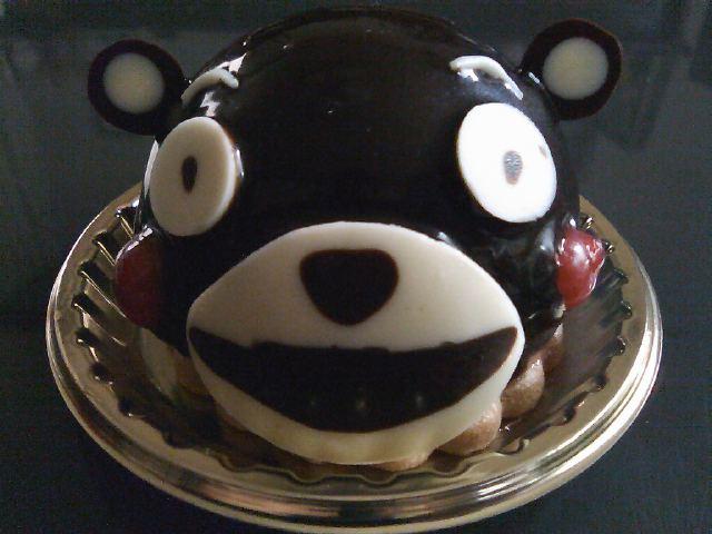 お持ち帰りのくまモンケーキを、お客さまがアップしてくれました。