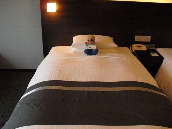 ベッドの大きさ、よい感じ☆