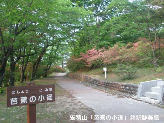 安積山の芭蕉小道
