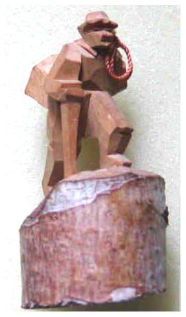 登山木彫り