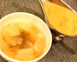 イエローカレーと蕪のスープ