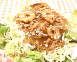 ちくわぶの生姜焼きサラダ