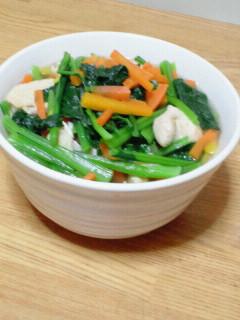 小松菜とむね肉の洋風煮びたし