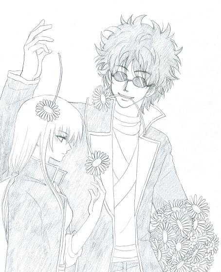 身長差はいつものごとく適当ですが、ろくに描いてないにも拘わらず、描く度に坂本さんの髪型が変わります。ってかこれじゃクリンクリン度が足りない気がする!( ̄□ ̄;)!!