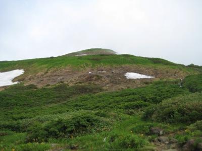 2009月山 6回目 姥ケ岳休憩所からの姥ケ岳.JPG