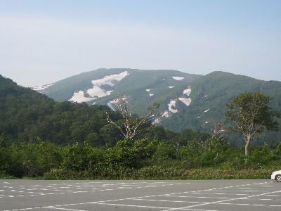 2009月山3回目 姥沢駐車場からみた月山.JPG