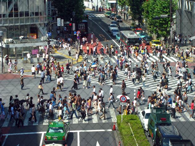 渋谷スクランブル交差点☆渋谷区渋谷