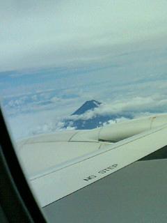 機上から見た富士山.JPG