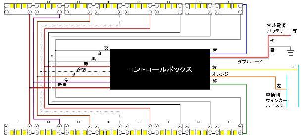流星8連配線図