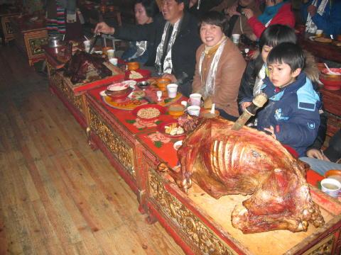 チベット族ショー