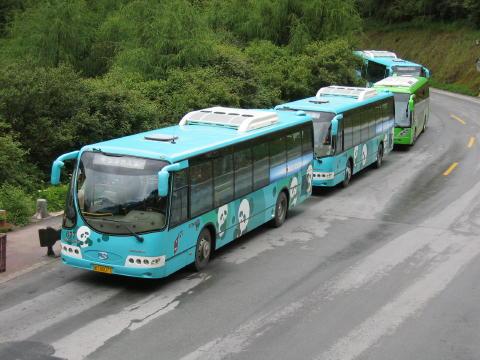 九塞溝場内専用バス