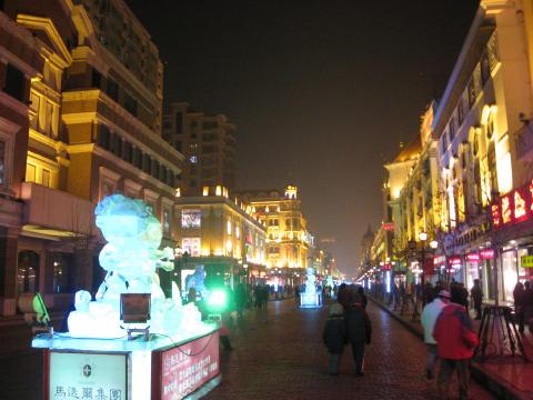 夜の中央大街
