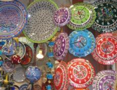 トルコ イスタンブール グランドバザール キュフタヤ 皿 時計