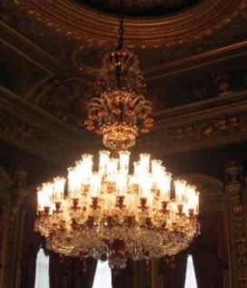 トルコ イスタンブール ドルマバフチェ宮殿 バカラ シャンデリア