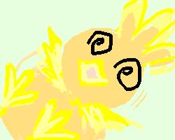絵板で落書き♪ポケモン「アチャモ」2♪