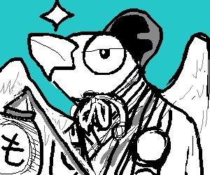 絵板で落書き♪白文鳥の…妖怪?w