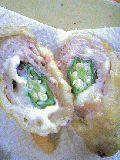 オクラの豚肉巻きフリッター