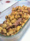 大豆とベーコンの炒め物