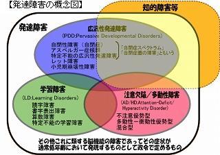 発達障害の概念図