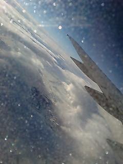 飛行機に乗ったところでさようならの撮影