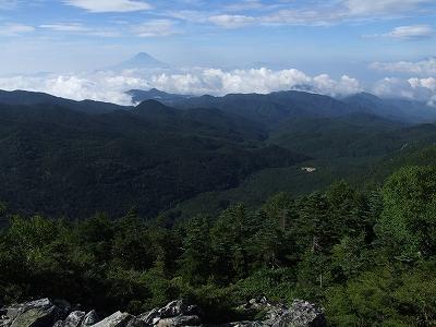 朝日岳からの富士山01