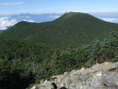 朝日岳からの金峰山