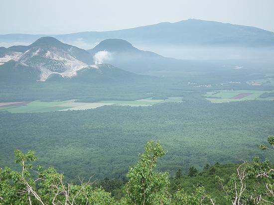 硫黄山と藻琴山