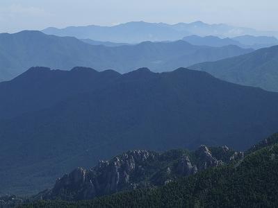 金峰山から奥日光方面を望む
