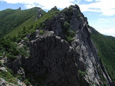 千代ノ吹上からの金峰山山頂