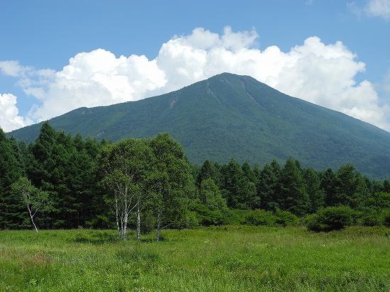 三本松茶屋から男体山
