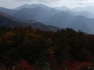 谷川連峰を望む
