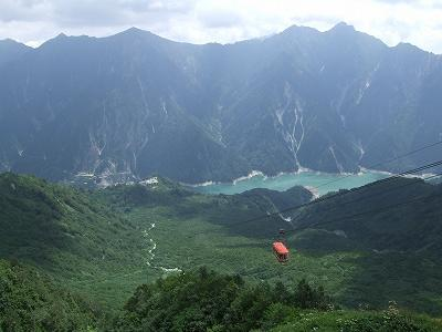 黒部湖から針ノ木岳と黒部湖