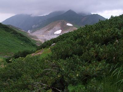地獄谷と奥大日岳