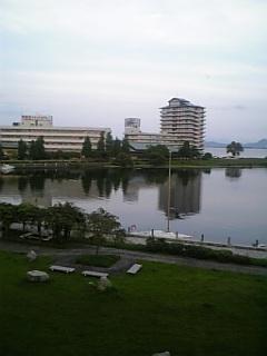 ホテルからの琵琶湖