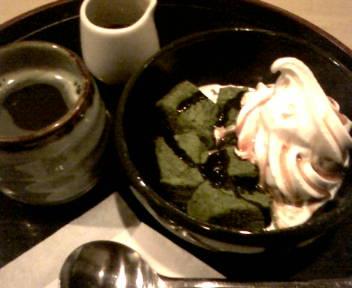 抹茶わらび餅アイス