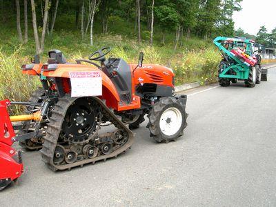 2010秋の大収穫祭_農機具展示