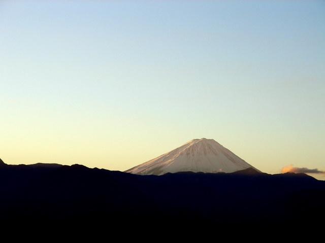 ほったらかし温泉から見た富士山