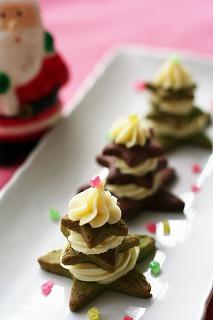 クリームチーズで。簡単クリスマス☆プチフール