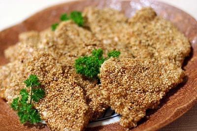 胡麻&マヨで鶏のゴマヨ焼き