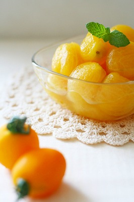 お日さま色のはちみつレモンマリネ