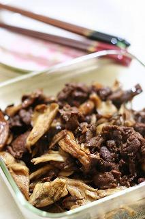 「オイっ酢!」牛肉ときのこのオイ・バルサミコ炒め煮<br />