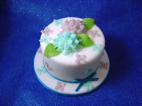 2008.7紫陽花のミニケーキ