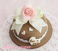 2012.2.5バラのミニケーキ
