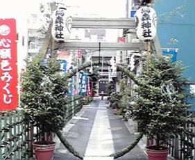 H22夏越大祓茅の輪(参道)2