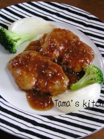 豚ヒレの中華風ステーキ