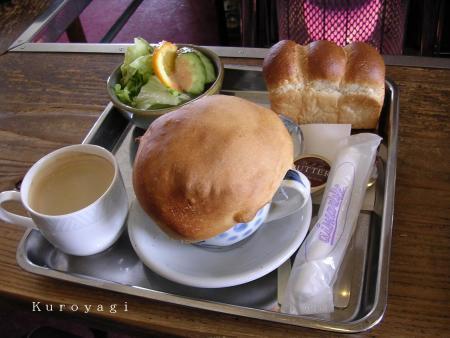 きのこ雲スープとコーヒーのセット。。