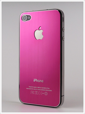 iphone4用バックパネル(メタリックピンク) iphoneパーツ ...