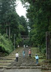 平泉寺白山神社の境内入り口