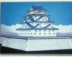 福井城の天守閣復元模型